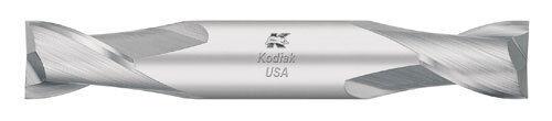 Stub Length Double-End Carbide End Mill 2 Flute Made in USA Kodiak USA 7//32 Dia