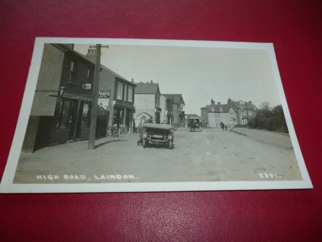 RP Photo Postcard Laindon Post Office High Essex Rover Motor Car F9225 Padgetts