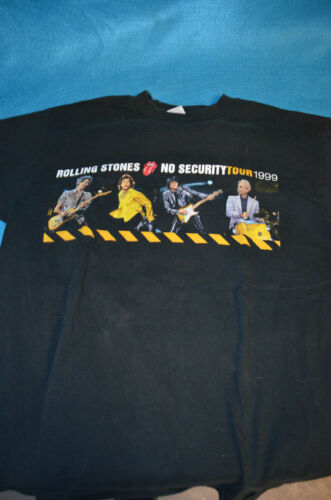 RARE 1999 ROLLING STONES NO SECURITY CONCERT T SHIRT L GENTLEY WORN RARE