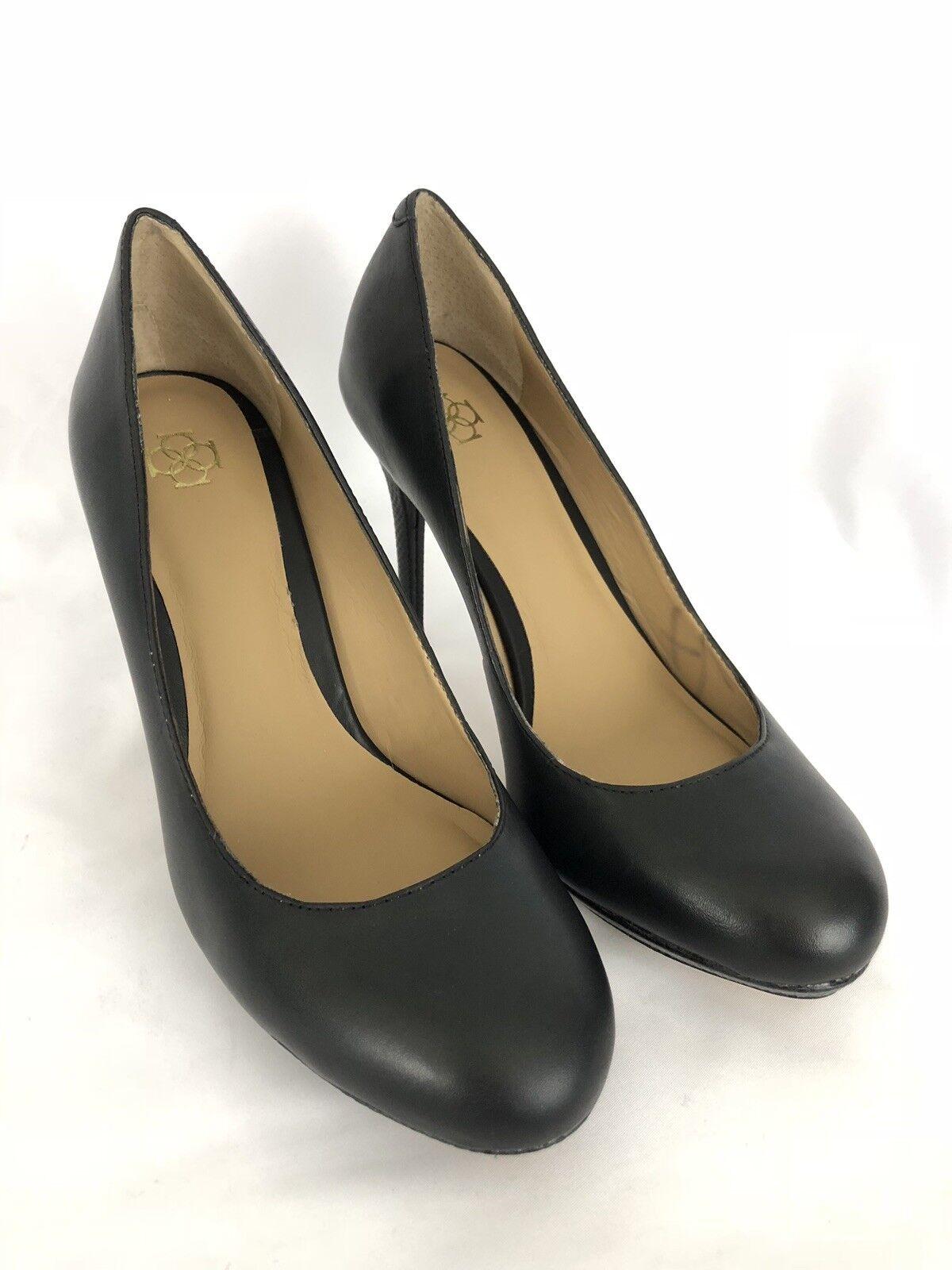 Ann Taylor Womens Leather Black High Heel Pumps with Platform Size 7 M EUC SH293