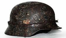 WW2 German Helmet M35 Size 66. The Battle for Stalingrad. WW II Relic Rare !!!