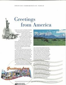 USPS-COMMEMORATIVE-PANEL-651-GREETINGS-FROM-AMERICA-3561-3610
