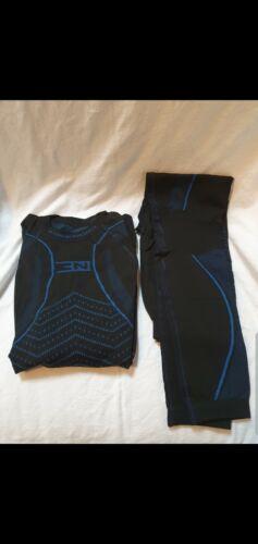 Free Nord sec Evo Tech Couche De Base Noir//Bleu Haut /& Bas Sans Couture XL