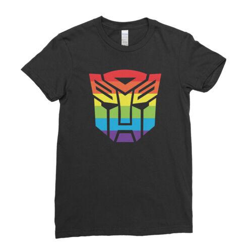 Transformer LGBT Gay Pride Rainbow Face Logo Autobot Mens Womens Kids T-Shirt