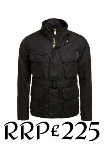 Nuovo Winter Rrp Xxl Uomo Size 225 Leading Motorcycle Superdry £ Jacket Nero Bike OwOqrTvR