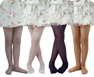 Girls Occasion Tights 20 Denier Dots Pattern Bridesmaid Communion Age 6-11