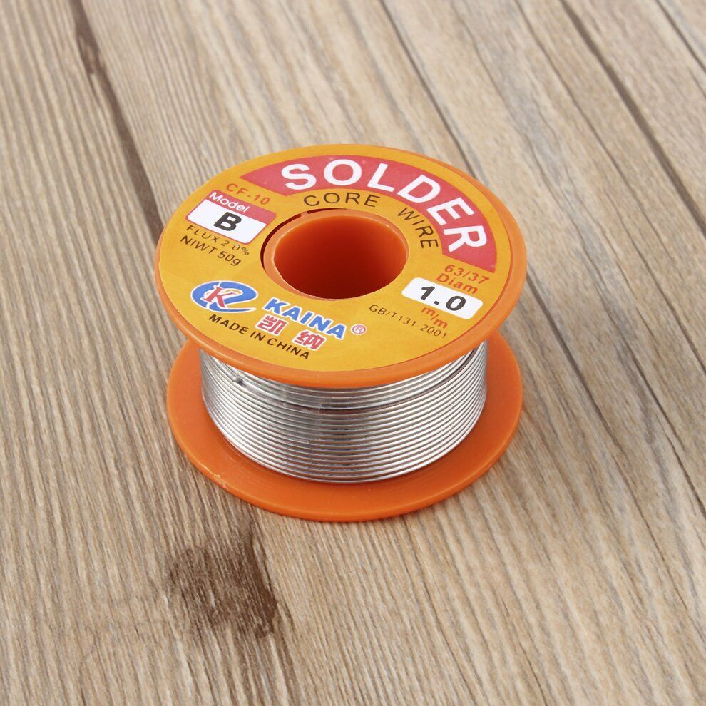 1mm Rosin Core Solder 63//37 Flux Soldering Welding Iron Wire Reel 100g New PLCA
