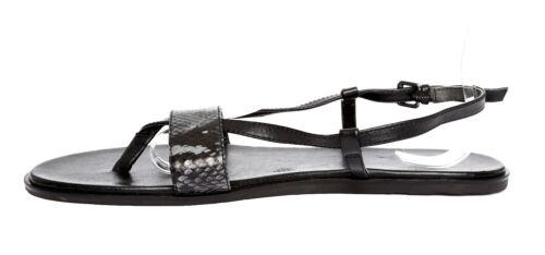 Via 11m 4242 van SpigaSz lederen Zwarte sandalen qUpLzVMSG