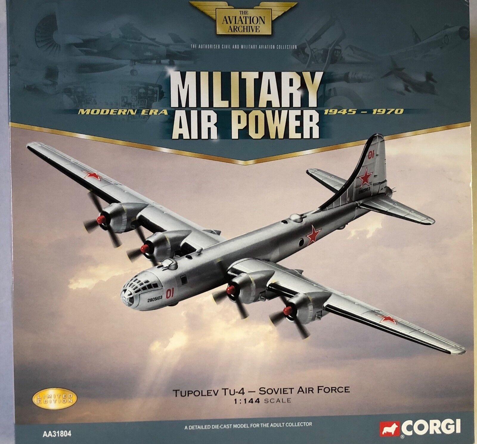 entrega rápida Corgi Military Air Power Tupolev Tu-4 de la Fuerza Fuerza Fuerza Aérea Soviética (B-29) 1 144  tomamos a los clientes como nuestro dios