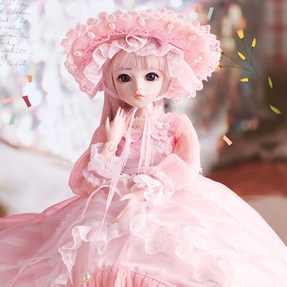 Hermosa Muñeca de de de BJD 1 3 60cm SD para Bebé Niño Cumpleaños Regalo de Navidad Juguete Set Completo  barato