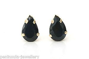 9ct Gold Sapphire Heart Stud earrings Made in UK Gift Boxed Studs Birthday Gift