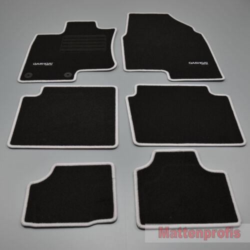 02//2007 si Velours Logo Fußmatten 6-teilig für Nissan Qashqai 2 7-sitzer ab Bj