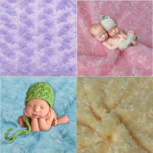 Photography Prop Rug Baby Photo Rose Flower Backdrop Newborn Baby Plush Blanket
