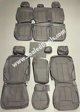 2013 2014 Ford F 150 Xlt Supercrew Gray Grey Leather Seat Factory Style Covers Fits Ford F 150