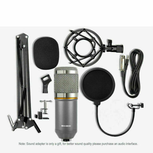BM-800 Condenser Microphone Studio Recording Mic W/ Stand Shock Mount NEW