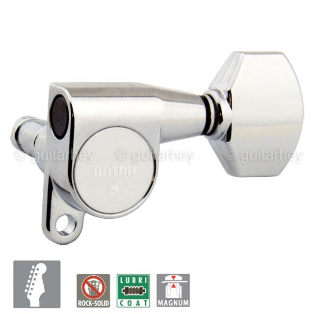 NEW Gotoh SG360-07 LEFT HANDED 6 In-Line Schaller Style Mini Keys COSMO BLACK