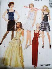 Vtg UNCUT Sz 4-6-8 McCALL's 7990 PATTERN corset lace-up top formal 2pc dress
