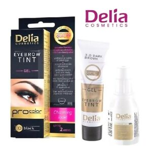 New Delia Professional Henna Eyebrow Tint Kit Gel Procolor Black