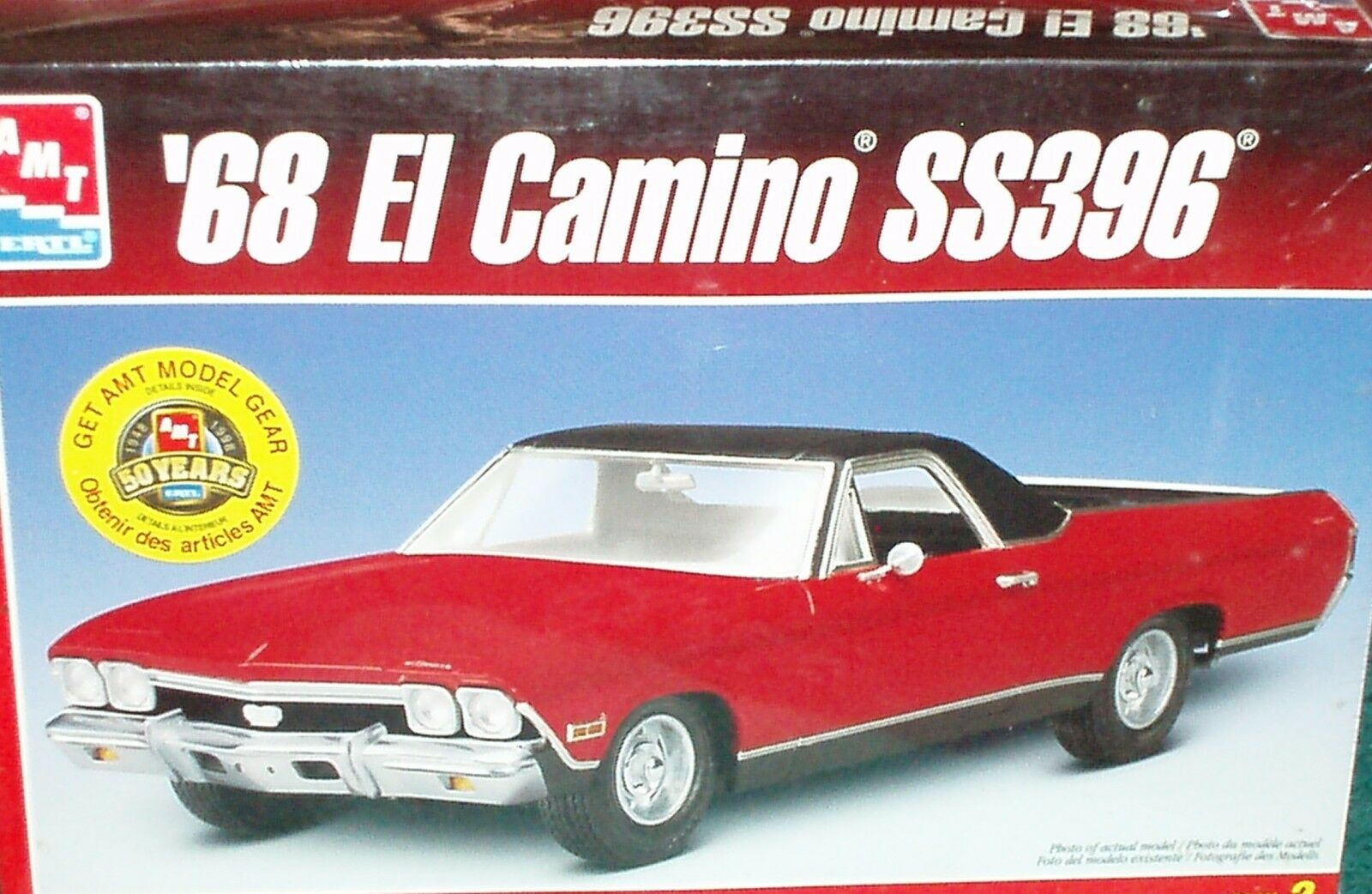 AMT 1968 CHEVY EL CAMINO SS396 PLASTIC MODEL KIT SEALED IN BOX 1 25
