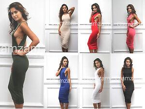 0388383451 new womens ladies sexy midi bodycon cut out open side boob celeb ...