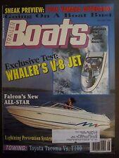 Trailer Boats Magazine August 1995 Whaler's V-8 Jet Falcon's All Star E