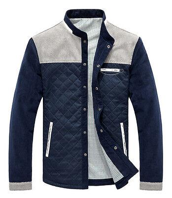 Hot Spring Men's fashion casual jacket stitching Slim Collar coat outerwear
