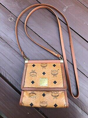 MCM Original Tasche Täschchen Superzustand Cognac Crossbody Retro | eBay