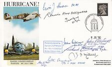 Hurricane Classic Fighter Display Signed by 8 Battle of Britain Pilots and 1 WAA
