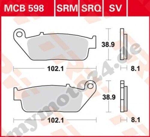 1996 TRW Lucas mcb598sv Plaquette de frein HONDA vt1100 c2 Shadow sc32 Bj