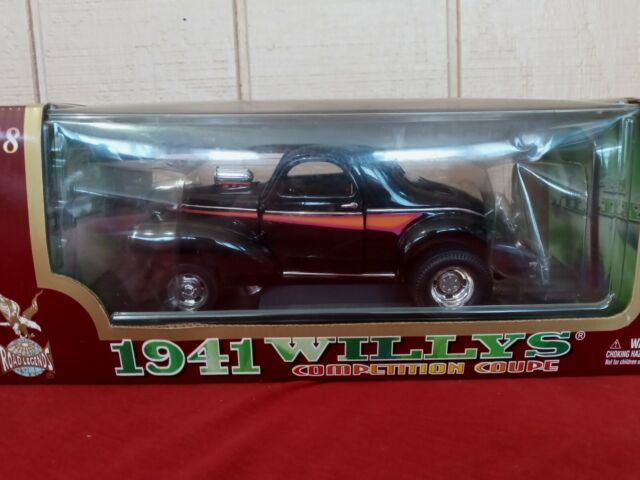 Road Legends 1941 Willys Competition Coupe - Black - 1:18 Scale Diecast