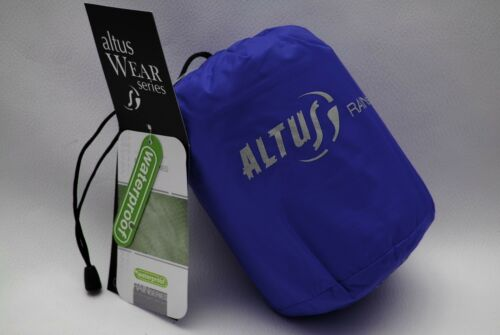 Altus Rain Jacket ultra compact 150 grams size S with bags Blue Water Resistant