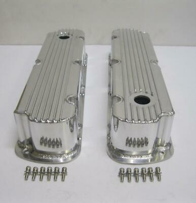 Small Block Ford SBF Fabricated Chrome Valve Cover 289 302 351W Tall 5.0L NoHole