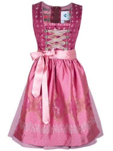 Jugenddirndl 44659 Amalia Himbeer Jacquard Rosa Pink elegant Isar-Trachten