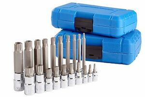 XZN Triple Square Spline Bit Socket Set 12 Point Tamper Proof 1//2 1//4 and 3//8 Inch Drive,4mm-18mm,S2 Steel,10 Pieces