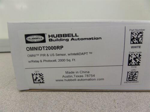 2000 SQFT HUBBEL OMNIDT2000RP PIR /& US Sensor w//IntelliDAPT w//Relay /& Photocell
