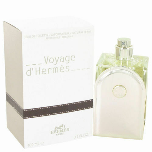 Voyage d'Hermes by Hermes 3.3 / 3.4 oz EDT Refillable Cologne Perfume Unisex NIB