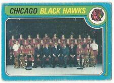 1979-80 OPC HOCKEY #247 BLACK HAWKS TEAM CHECKLIST - FAIR