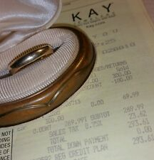 Kay Jewelers Kays 10k Yellow gold 4mm plain Wedding band ring-$335 mens womens