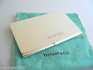 Tiffany co t co silver 1837 business card case holder rare ebay image is loading tiffany amp co t amp co silver 1837 reheart Choice Image