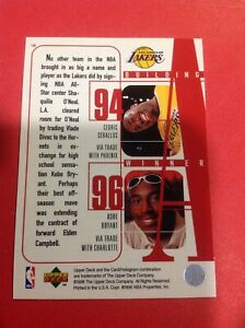 Kobe Bryant Rookie Card 1996 Upper Deck Carrd #148 Lakers Gem Mint?