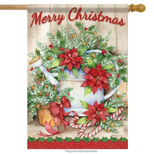 "Holiday Joy Welcome House Flag Christmas Holiday Banner 28/"" x 40/"""