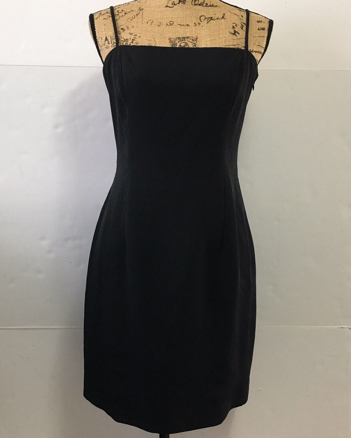 Laundry Shelli Segal Little schwarz Dress Short Sleeveless Cocktail Bow Größe 10