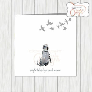 Personalised Sorry For The Loss Of Your Rabbit Pet Sympathy Card Tender Sweet