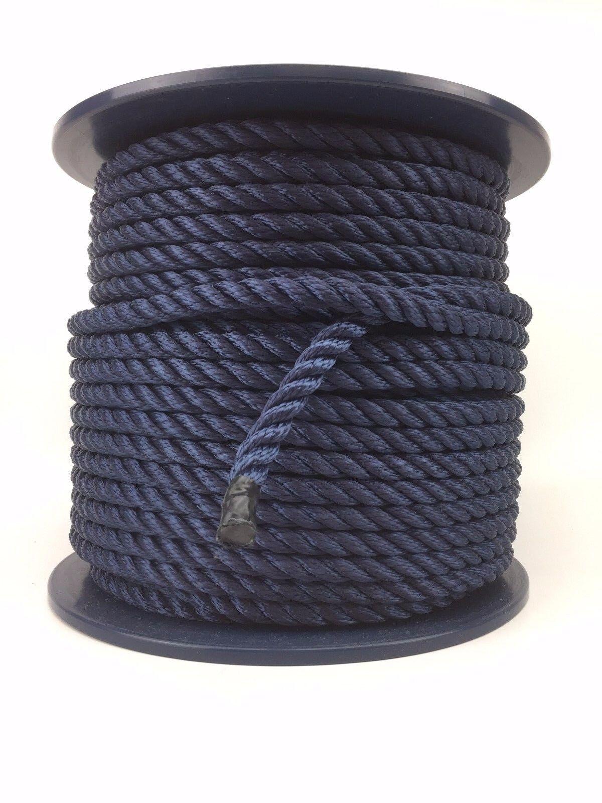 3 Stre blu navy multifilauominito 10mm GtuttiEGGIANTE CORDA x 220M MULINELLO