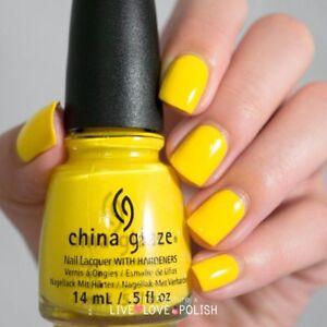 China Glaze Happy Go Lucky #80940 NAIL POLISH .5 FL OZ BRIGHT YELLOW ...