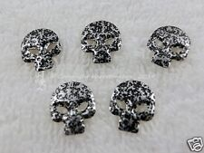 25 Hotfix Metal Forms Nailheads Skull Black Karostonebox