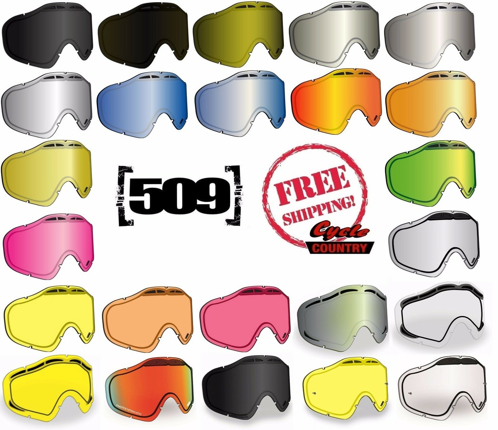 509 SINISTER X5 GOGGLE REPLACEMENT LENS DUAL PANE ANTI FOG SNOWMOBILE SNOW SKI