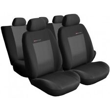 UNIVERSAL CAR SEAT COVERS full set  fits Renault Clio charcoal grey pattern 3