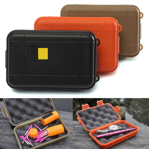 Waterproof Outdoor Plastic Airtight Survival Case Container Storage Carry Box AL