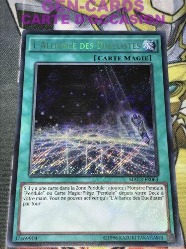 Yu-Gi-Oh L/'Alliance des Duellistes MACR-FR063 Secrète rare